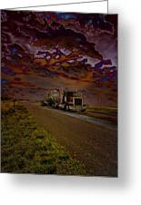 Midnight Deisel Greeting Card by Bill Tiepelman
