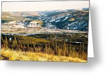 Midnight Dome - Dawson City Greeting Card by Juergen Weiss