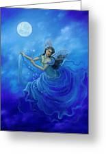 Midnight Fairy Greeting Card by BK Lusk