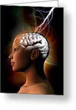 Migraine, Conceptual Artwork Greeting Card by Victor Habbick Visions