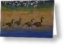 Migration Series Geese 2 Greeting Card by Carolyn Doe