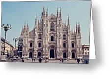 Milan Cathedral Greeting Card by Benjamin Matthijs