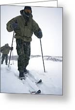 Military Arctic Survival Training Greeting Card by Louise Murray