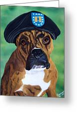 Military Boxer Greeting Card by Debbie LaFrance
