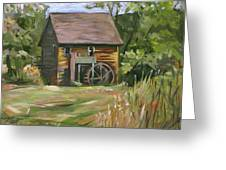 Mill In The Meadow Greeting Card by Nancy Griswold