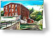 Millbury Mill Greeting Card by Scott Nelson