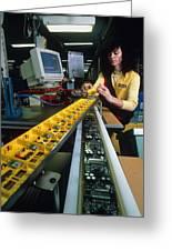 Mindstorm Programmable Lego Brick Manufacture Greeting Card by Volker Steger