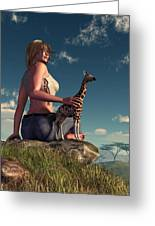 Miniature Giraffe Greeting Card by Daniel Eskridge