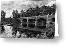 Mirror Bridge Greeting Card by Peter Chilelli