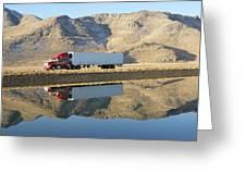 Mirror Image Greeting Card by Feva  Fotos