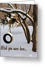 Missing You Greeting Card by Kristin Elmquist