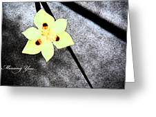 Missing You Greeting Card by Gunz The Great