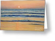 Mission Beach Evening Greeting Card by Julie Kreutzer