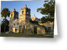 Mission Concepcion In The Evening Greeting Card by Ellie Teramoto