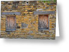 Mission Dwelling Windows Greeting Card by Peter  McIntosh