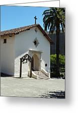 Mission San Rafael Arcangel Chapel Greeting Card by Methune Hively
