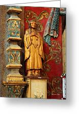 Mission San Xavier Del Bac - Interior Detail II Greeting Card by Suzanne Gaff