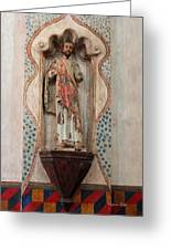 Mission San Xavier Del Bac - Interior Sculpture Greeting Card by Suzanne Gaff