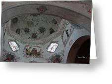 Mission San Xavier Del Bac - Vaulted Ceiling Detail Greeting Card by Suzanne Gaff