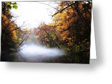Misty Wissahickon Greeting Card by Bill Cannon