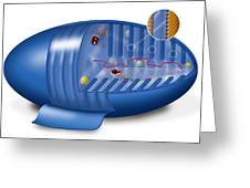 Mitochondrion, Artwork Greeting Card by Art For Science