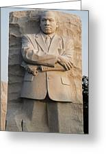 Mlk Memorial In Washington Dc Greeting Card by Brendan Reals
