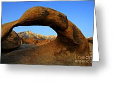 Mobius Arch California Greeting Card by Bob Christopher