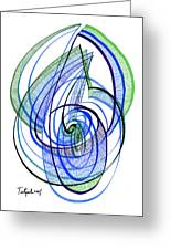 Modern Drawing 120 Greeting Card by Lynne Taetzsch