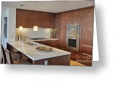 Modern Kitchen Interior Greeting Card by Andersen Ross