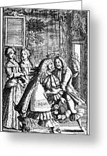 Moliere: Pr�cieuses, 1682 Greeting Card by Granger