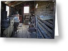 Molson Ghost Town Storage Shed Greeting Card by Daniel Hagerman