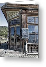 Molson Washington Ghost Town Bank Greeting Card by Daniel Hagerman