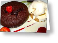 Molten Chocolate Lava Cake Greeting Card by Karon Melillo DeVega