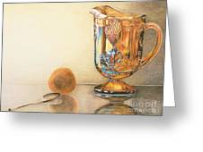 Mom's Orange Juice Pitcher Greeting Card by Charlotte Yealey