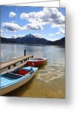 Mondsee Lake Boats Greeting Card by Lauri Novak
