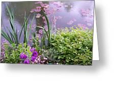 Monet Garden Giverny France Greeting Card by Chitra Ramanathan