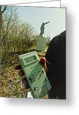 Monitoring Fallout Levels From Chernobyl. Greeting Card by Ria Novosti