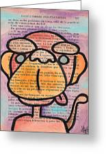 Monkey Business Greeting Card by Jera Sky