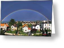 Monkstown, Co Dublin, Ireland Rainbow Greeting Card by The Irish Image Collection