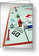 Monopoly Board Game Greeting Card by Tek Image