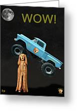 Monster Truck The Scream World Tour Wow Greeting Card by Eric Kempson
