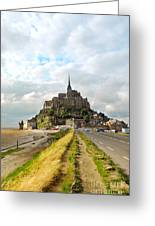 Mont Saint Michel Greeting Card by Elena Elisseeva