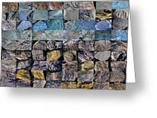 Montage Blue Beach Fossil Specimens Greeting Card by William OBrien