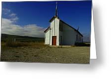Montana Church Greeting Card by Tom  Reed