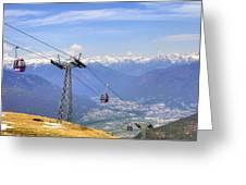 Monte Tamaro - Switzerland Greeting Card by Joana Kruse