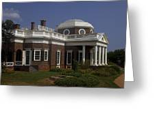 Monticello Greeting Card by Andrew Soundarajan