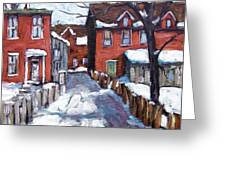 Montreal Scene 02 By Prankearts Greeting Card by Richard T Pranke