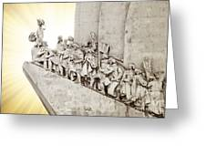 Monument To Discoveries Greeting Card by Carlos Caetano