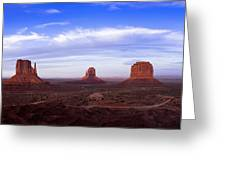 Monument Valley at Dusk Greeting Card by Andrew Soundarajan