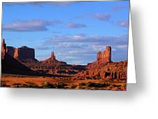 Monument Valley Evening Greeting Card by Viktor Savchenko